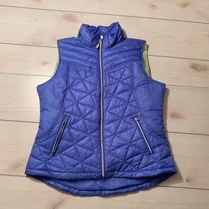 womens L tek gear winter vest blue